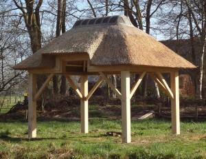 Tuinhuisje: rechthoekig met een verhoogde inloop 2,5 x 3,5